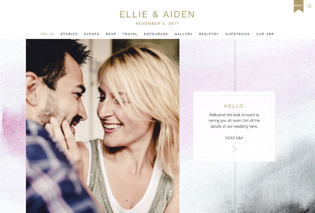 Blush to Dusk multi-pages website layout