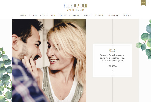 Eucalyptus multi-pages website layout