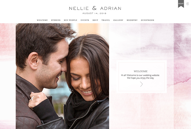 Rouge multi-pages website layout
