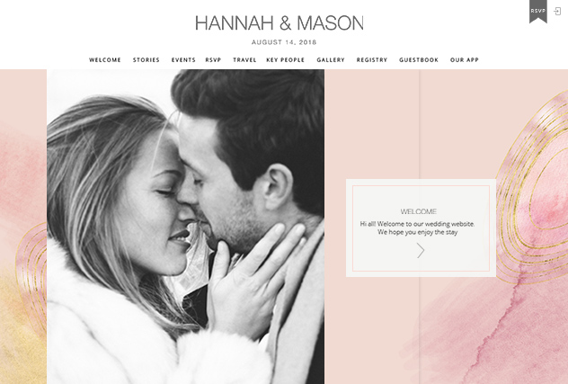 Blush Agate multi-pages website layout
