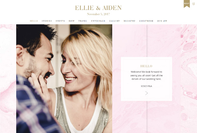 Blush Watercolor multi-pages website layout