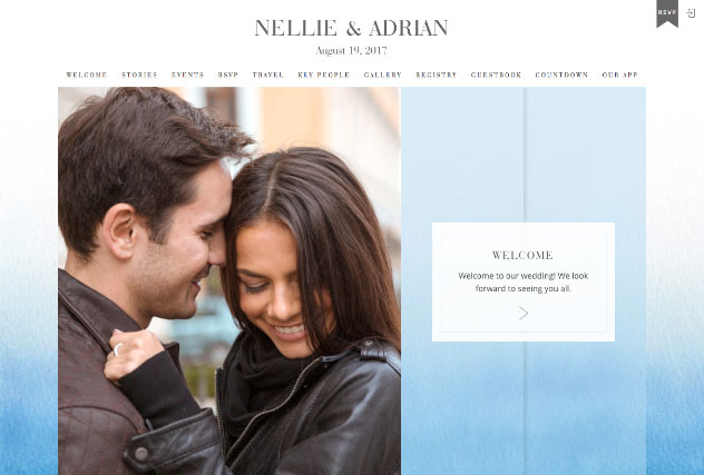 Ombre Blue multi-pages website layout