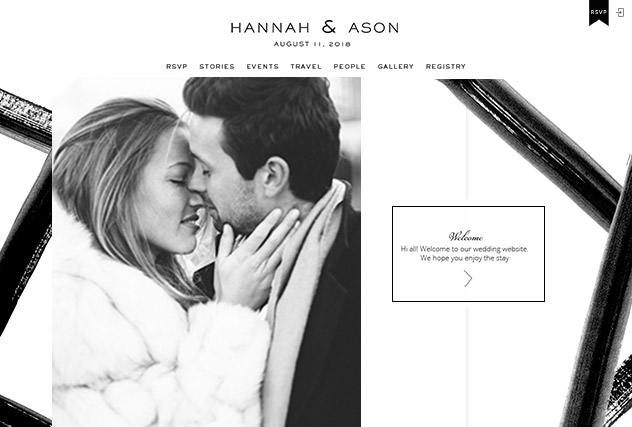 Black  Tie  multi-pages website layout