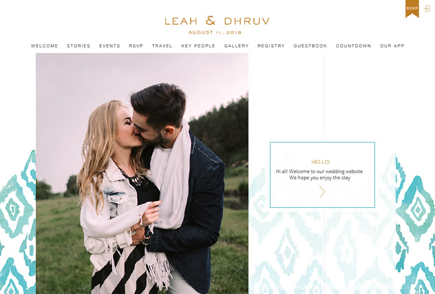 Ikat multi-pages website layout