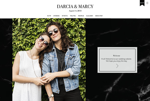 Midnight Marble multi-pages website layout