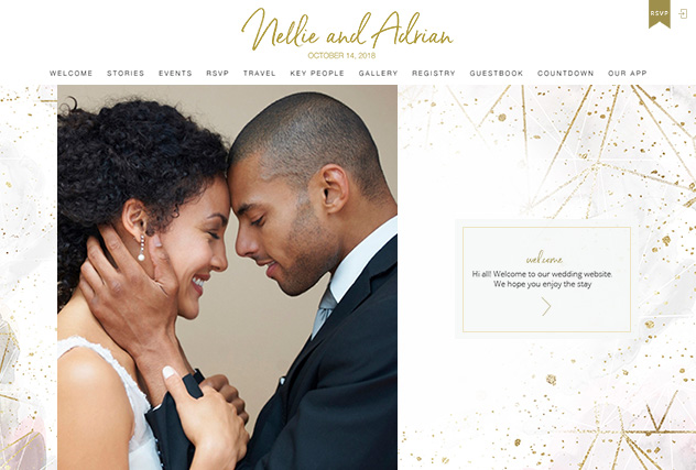 Love Affair multi-pages website layout