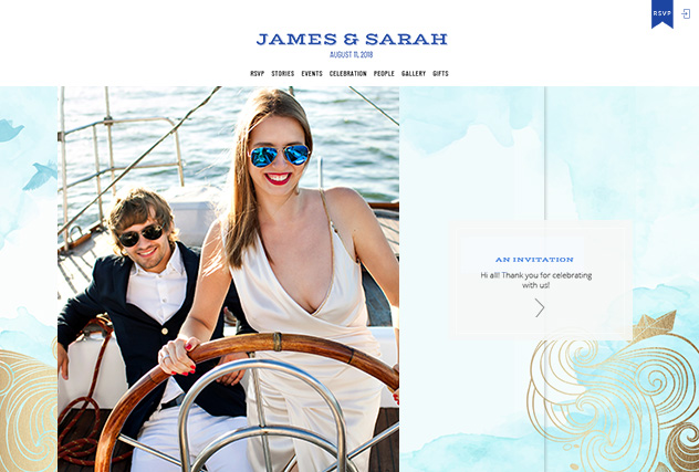 Sail Away multi-pages website layout