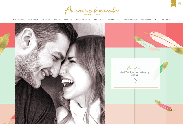 Love Letters multi-pages website layout