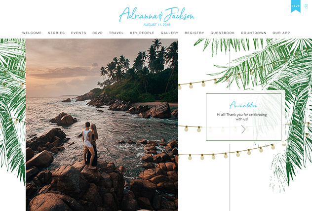 Andrea multi-pages website layout