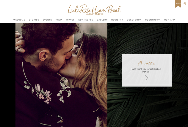 Astrid multi-pages website layout