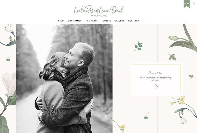 Timeless Love multi-pages website layout