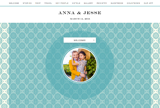 Rare Turquoise single page website layout