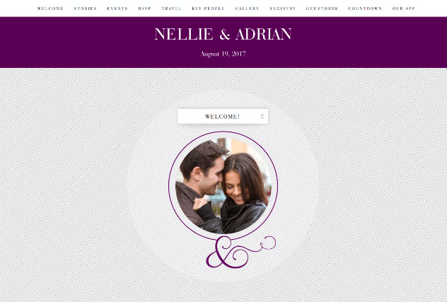 Truly Together Purple single page website layout