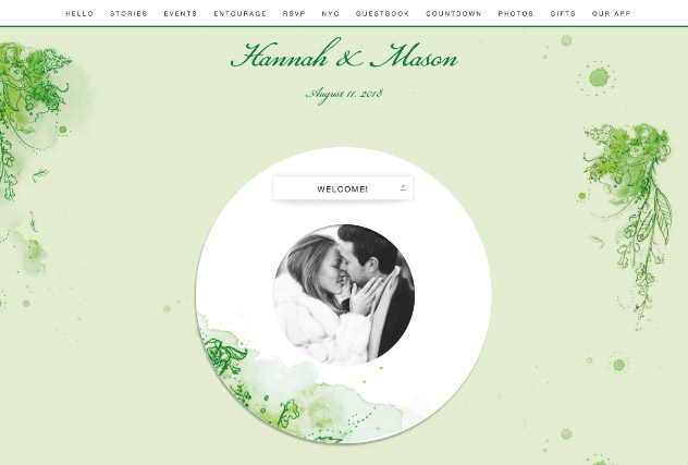 Painterly Passion Green 2 single page website layout