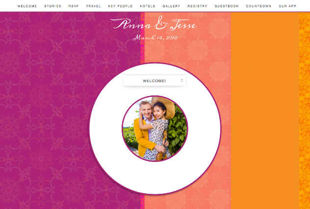 Melange single page website layout