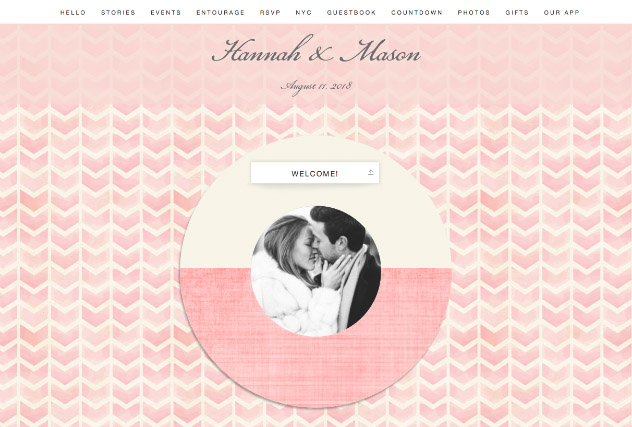 Pink Lady single page website layout