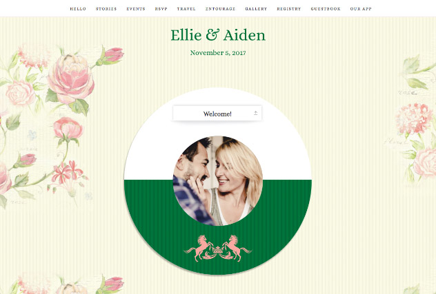 Springtime Southern single page website layout