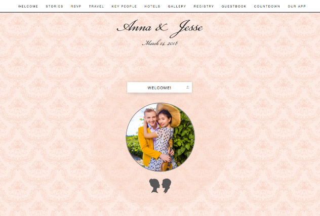 Romantic Pastels single page website layout