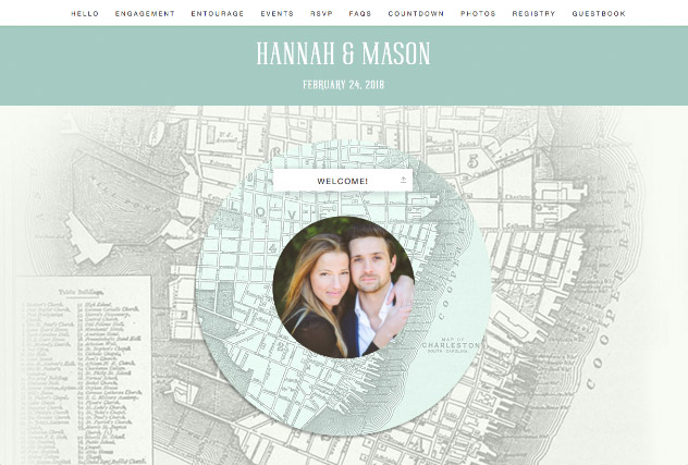 Holy City Love - Charleston single page website layout