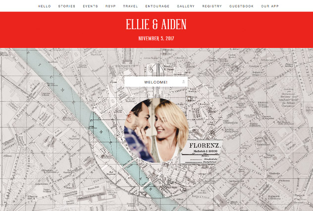 Romantic City Love – Florence single page website layout