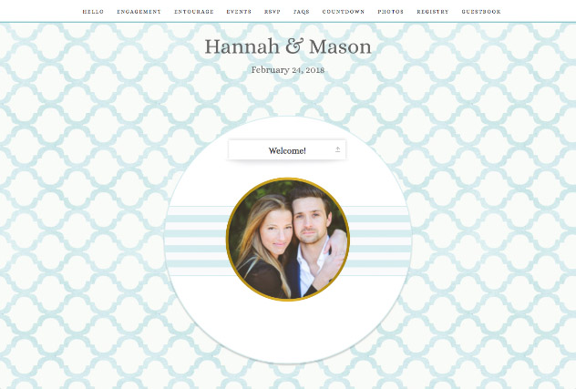 Southern Belle single page website layout