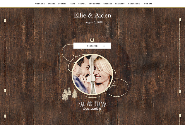 Rustic Barn single page website layout