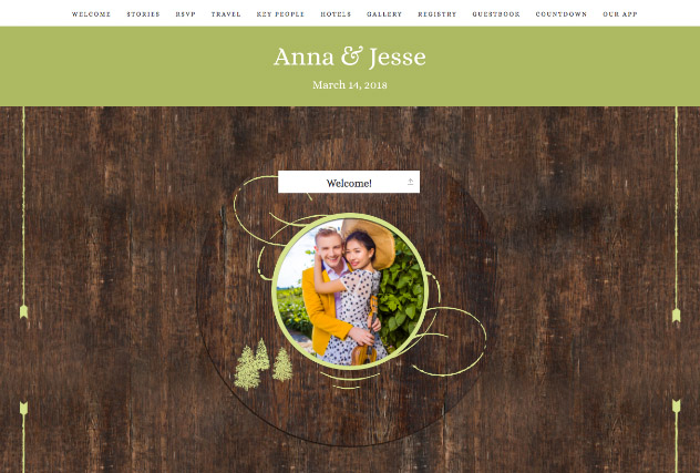 Rustic Barn in Lime single page website layout