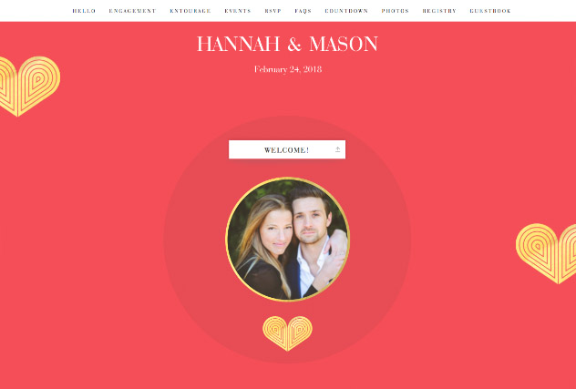 Red Heart Deco single page website layout