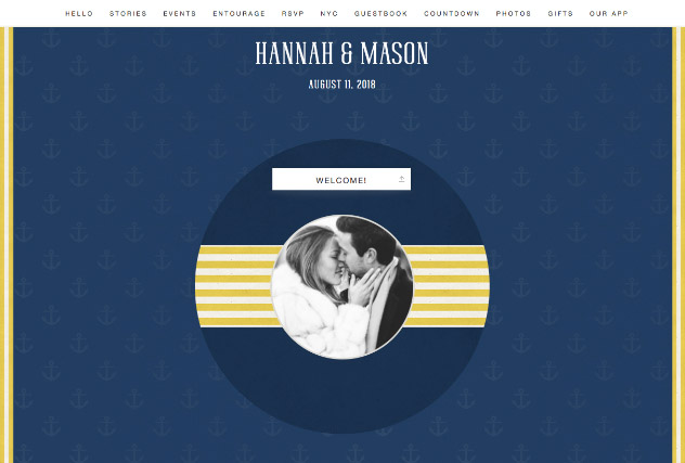 Nautical single page website layout