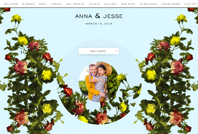 Cabbage Rose by Carolina Herrera single page website layout