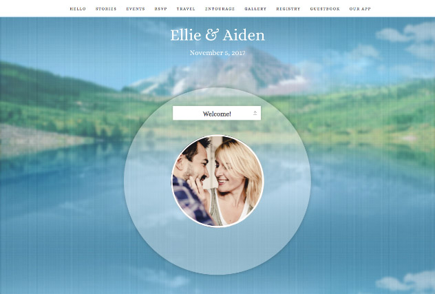 Mountain Love single page website layout