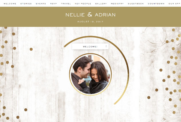 Paint it Gold single page website layout