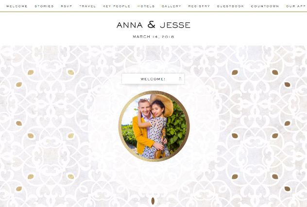 Gold Marble Mosaic single page website layout