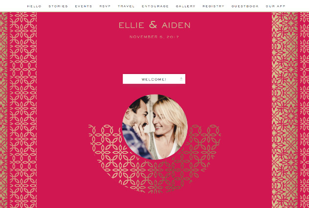 Casablanca Pink single page website layout