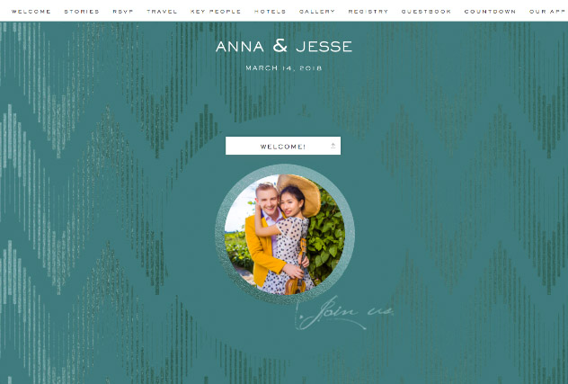 Emerald Shimmer single page website layout