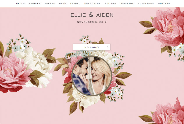 Blushing single page website layout