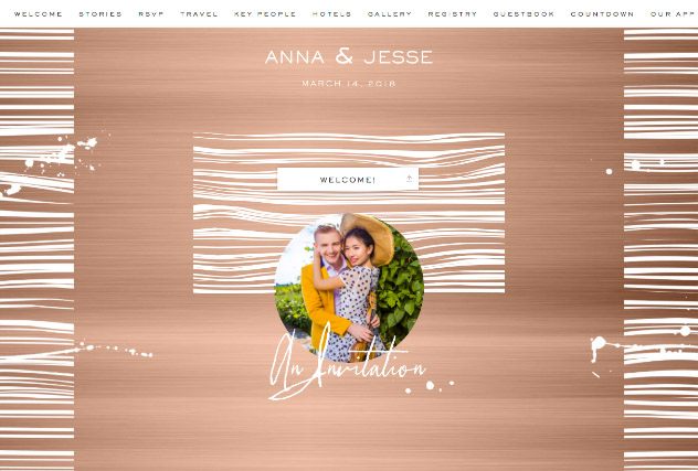 Copper Chic single page website layout