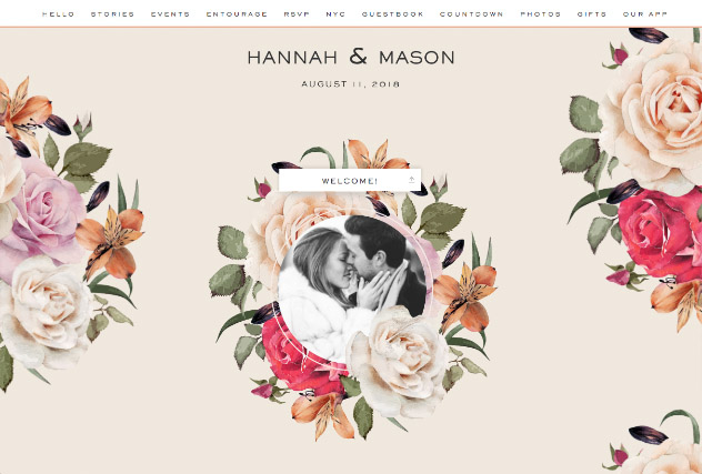 Fresh Blossoms single page website layout