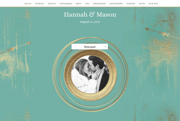 Gold Dust - Aqua single page website layout