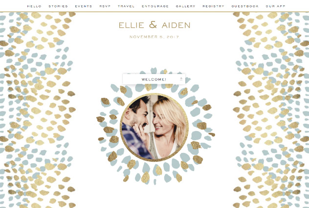Brushed Glam Cerulean single page website layout