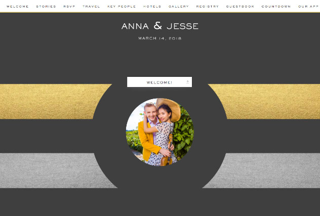 Striped Modern in Coal single page website layout