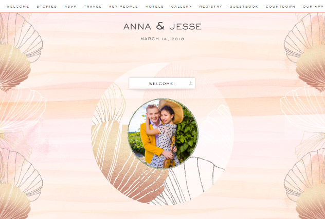 Sunset Sands single page website layout