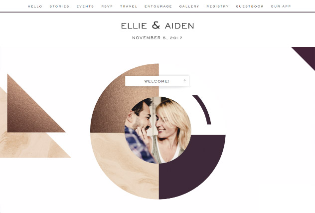 Bronze Colorblock single page website layout
