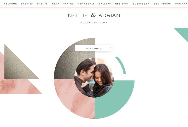 Marble Colorblock single page website layout