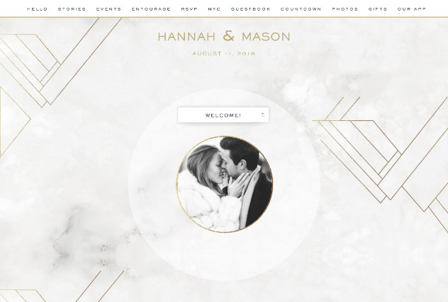 Modern Marble single page website layout