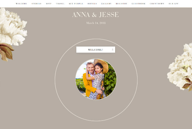 Classic Floral - Neutral single page website layout