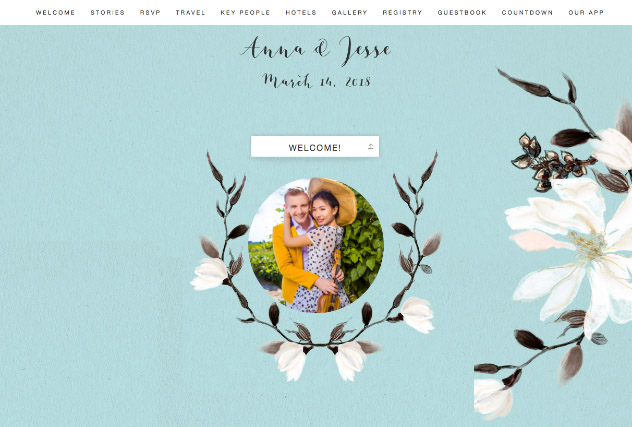 Painted Magnolias - Powder single page website layout