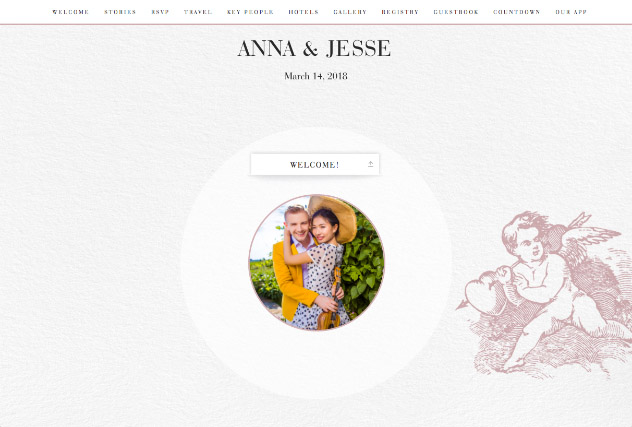 Angelic single page website layout
