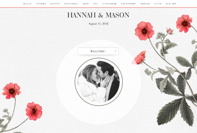 Vintage Poppies single page website layout