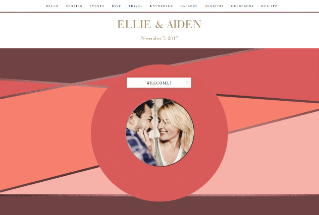 Sunset Colorblock single page website layout